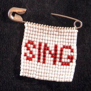 Sing badge