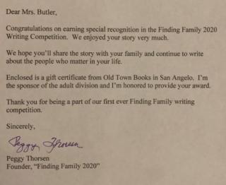 Mom story letter