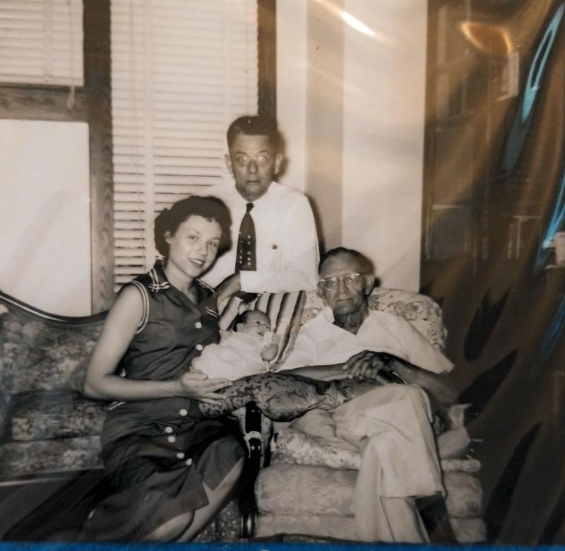 Four Generations WL Marshall  Lehnholf Marshall  Mary Jane Marshall Austin and infant William Lehnholf Austin