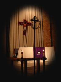 Lenten_crosses_alter